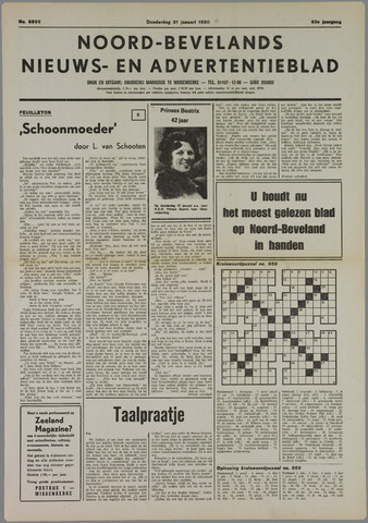 Noord-Bevelands Nieuws- en advertentieblad 1980-01-31