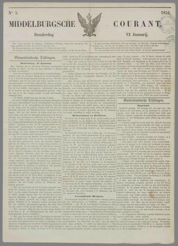 Middelburgsche Courant 1854-01-12