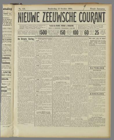 Nieuwe Zeeuwsche Courant 1914-10-22