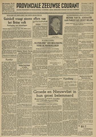 Provinciale Zeeuwse Courant 1951-04-11