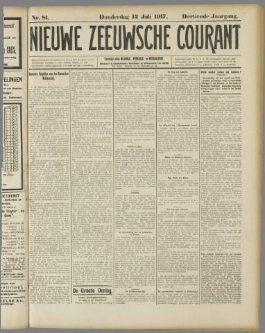 Nieuwe Zeeuwsche Courant 1917-07-12