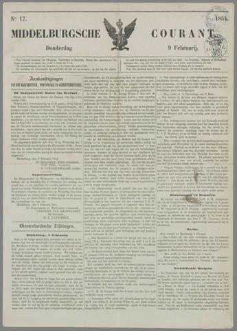 Middelburgsche Courant 1854-02-09