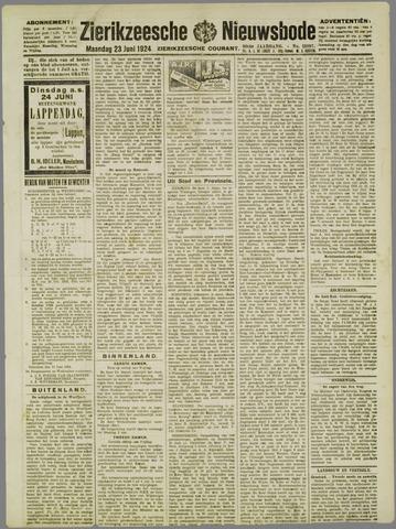 Zierikzeesche Nieuwsbode 1924-06-23