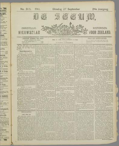 De Zeeuw. Christelijk-historisch nieuwsblad voor Zeeland 1910-09-27