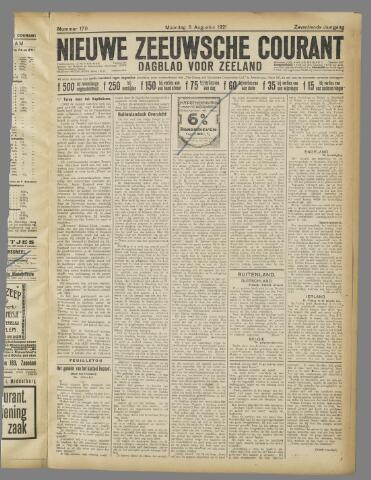Nieuwe Zeeuwsche Courant 1921-08-08