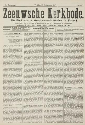 Zeeuwsche kerkbode, weekblad gewijd aan de belangen der gereformeerde kerken/ Zeeuwsch kerkblad 1917-09-28