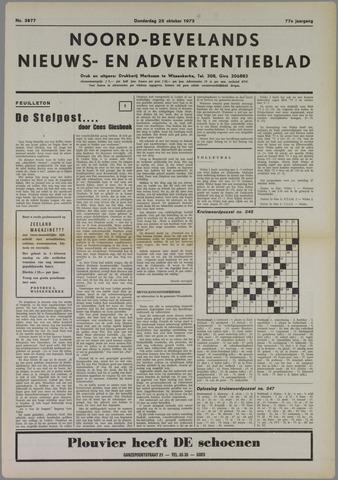 Noord-Bevelands Nieuws- en advertentieblad 1973-10-25
