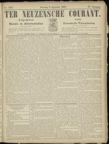 Ter Neuzensche Courant. Algemeen Nieuws- en Advertentieblad voor Zeeuwsch-Vlaanderen / Neuzensche Courant ... (idem) / (Algemeen) nieuws en advertentieblad voor Zeeuwsch-Vlaanderen 1887-09-03