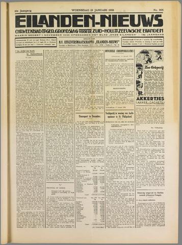 Eilanden-nieuws. Christelijk streekblad op gereformeerde grondslag 1938-01-19