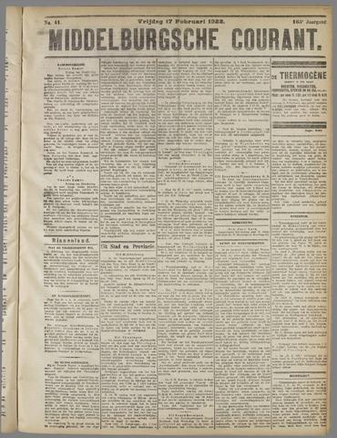 Middelburgsche Courant 1922-02-17
