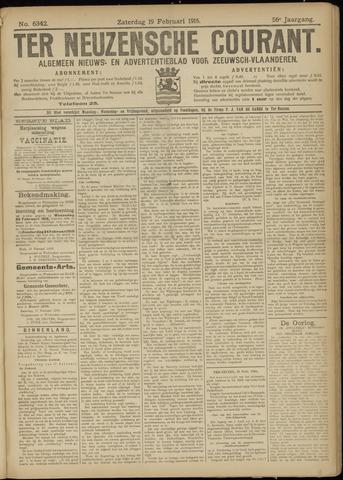 Ter Neuzensche Courant. Algemeen Nieuws- en Advertentieblad voor Zeeuwsch-Vlaanderen / Neuzensche Courant ... (idem) / (Algemeen) nieuws en advertentieblad voor Zeeuwsch-Vlaanderen 1916-02-19