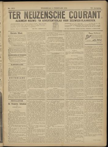Ter Neuzensche Courant. Algemeen Nieuws- en Advertentieblad voor Zeeuwsch-Vlaanderen / Neuzensche Courant ... (idem) / (Algemeen) nieuws en advertentieblad voor Zeeuwsch-Vlaanderen 1931-02-04