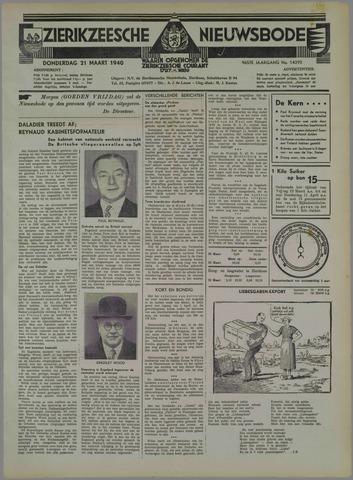 Zierikzeesche Nieuwsbode 1940-03-21