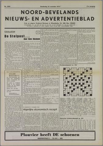 Noord-Bevelands Nieuws- en advertentieblad 1973-11-22