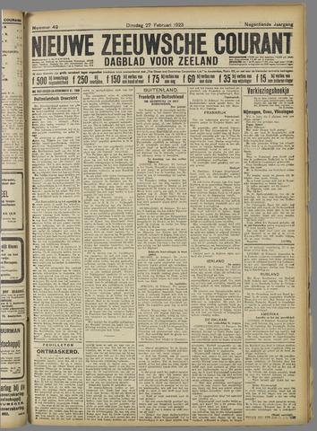 Nieuwe Zeeuwsche Courant 1923-02-27