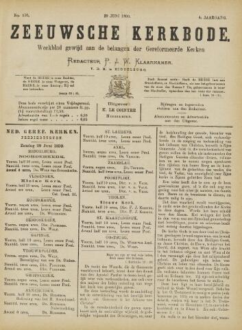 Zeeuwsche kerkbode, weekblad gewijd aan de belangen der gereformeerde kerken/ Zeeuwsch kerkblad 1890-06-28