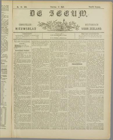 De Zeeuw. Christelijk-historisch nieuwsblad voor Zeeland 1898-04-14