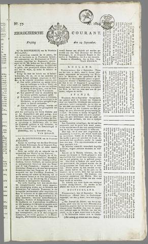 Zierikzeesche Courant 1824-09-24