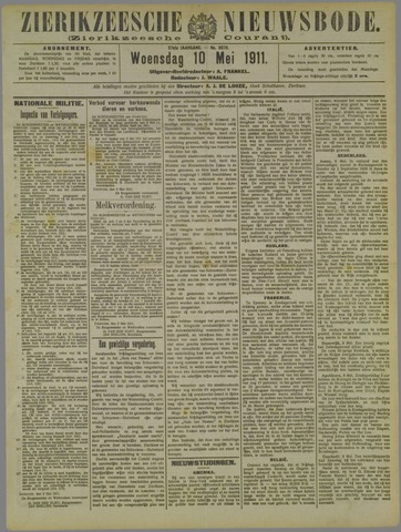 Zierikzeesche Nieuwsbode 1911-05-10