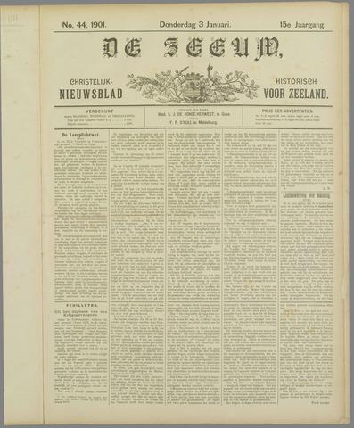 De Zeeuw. Christelijk-historisch nieuwsblad voor Zeeland 1901-01-03
