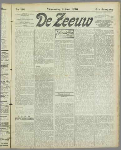 De Zeeuw. Christelijk-historisch nieuwsblad voor Zeeland 1920-06-09