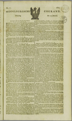 Middelburgsche Courant 1825-01-25