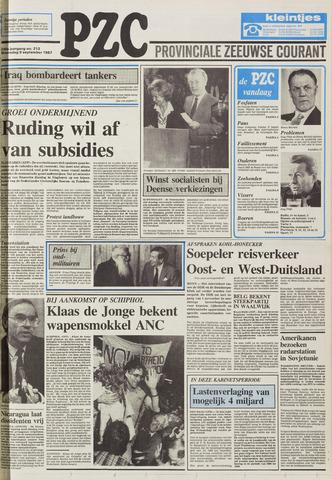 Provinciale Zeeuwse Courant 1987-09-09