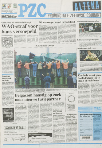 Provinciale Zeeuwse Courant 2001-09-01