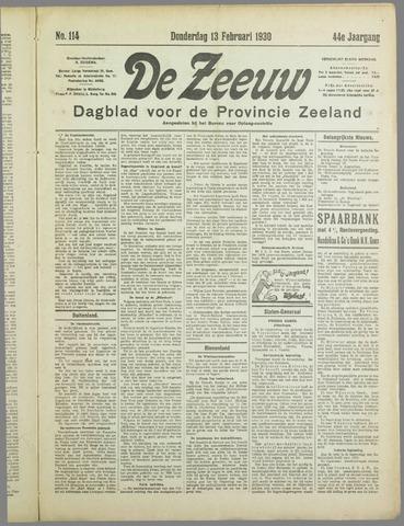 De Zeeuw. Christelijk-historisch nieuwsblad voor Zeeland 1930-02-13