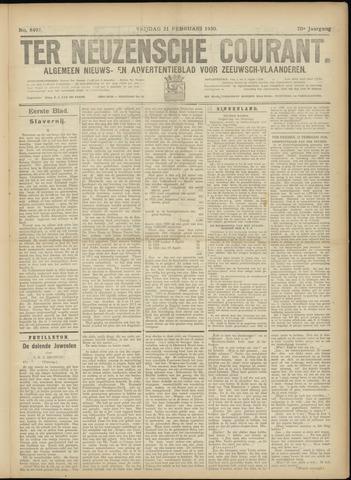 Ter Neuzensche Courant. Algemeen Nieuws- en Advertentieblad voor Zeeuwsch-Vlaanderen / Neuzensche Courant ... (idem) / (Algemeen) nieuws en advertentieblad voor Zeeuwsch-Vlaanderen 1930-02-21
