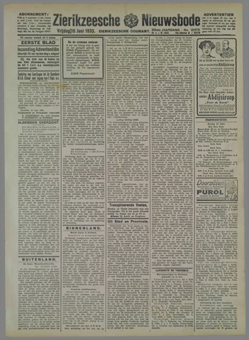 Zierikzeesche Nieuwsbode 1933-06-16