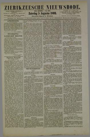 Zierikzeesche Nieuwsbode 1893-08-05