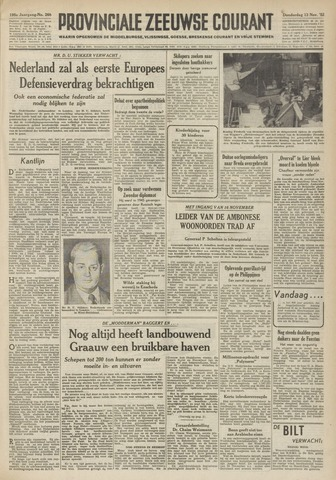 Provinciale Zeeuwse Courant 1952-11-13
