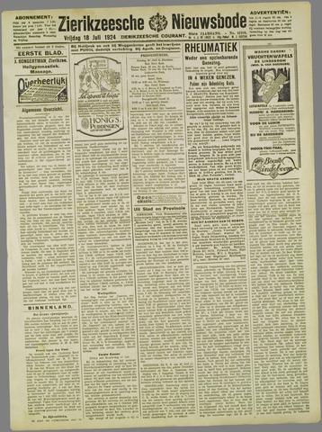 Zierikzeesche Nieuwsbode 1924-07-18