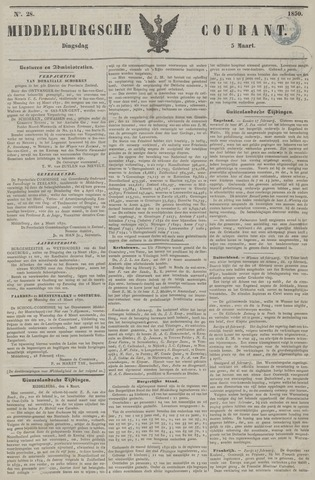 Middelburgsche Courant 1850-03-05