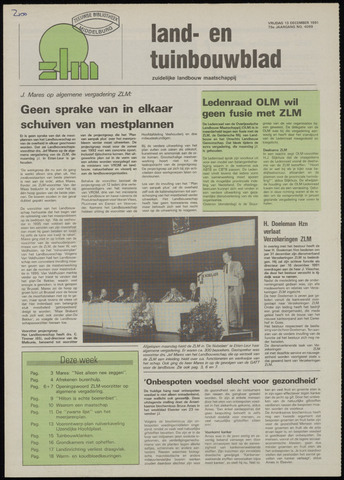 Zeeuwsch landbouwblad ... ZLM land- en tuinbouwblad 1991-12-13