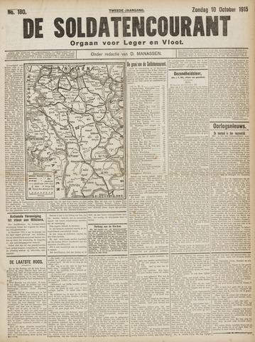 De Soldatencourant. Orgaan voor Leger en Vloot 1915-10-10