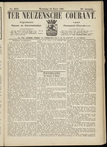 Ter Neuzensche Courant. Algemeen Nieuws- en Advertentieblad voor Zeeuwsch-Vlaanderen / Neuzensche Courant ... (idem) / (Algemeen) nieuws en advertentieblad voor Zeeuwsch-Vlaanderen 1881-03-16