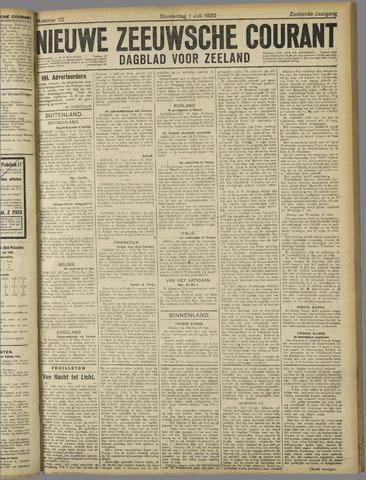 Nieuwe Zeeuwsche Courant 1920-07-01