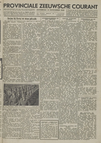 Provinciale Zeeuwse Courant 1943-11-13