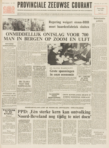 Provinciale Zeeuwse Courant 1970-04-29