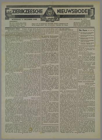 Zierikzeesche Nieuwsbode 1940-12-11