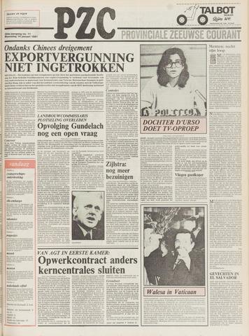 Provinciale Zeeuwse Courant 1981-01-14