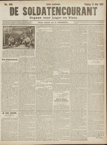 De Soldatencourant. Orgaan voor Leger en Vloot 1917-05-11