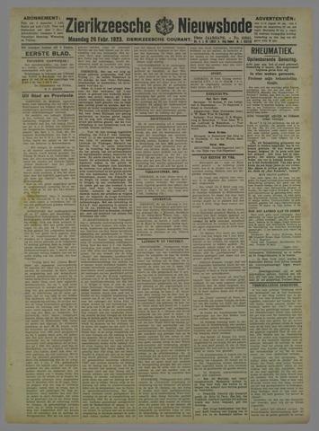 Zierikzeesche Nieuwsbode 1923-02-26