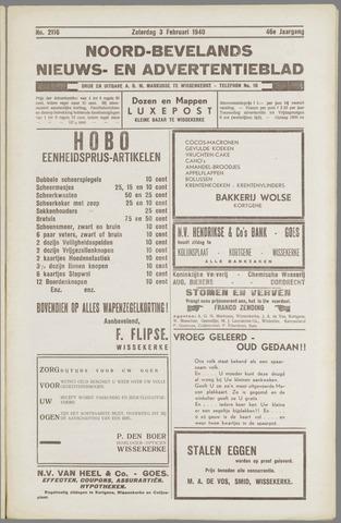 Noord-Bevelands Nieuws- en advertentieblad 1940-02-03