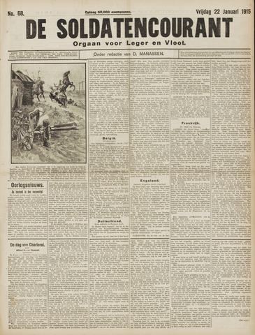 De Soldatencourant. Orgaan voor Leger en Vloot 1915-01-22