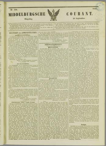 Middelburgsche Courant 1847-09-28