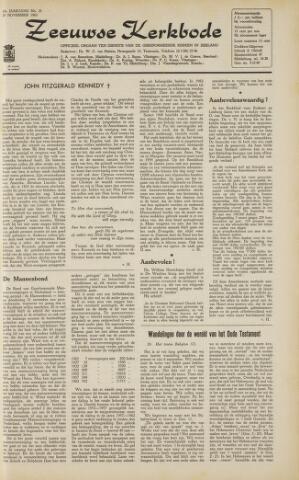 Zeeuwsche kerkbode, weekblad gewijd aan de belangen der gereformeerde kerken/ Zeeuwsch kerkblad 1963-11-29