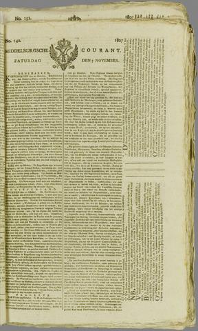 Middelburgsche Courant 1807-11-07